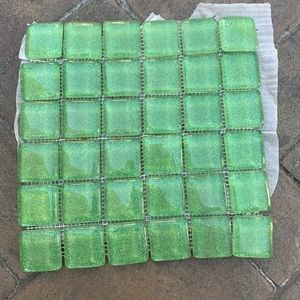 Green Glass Tile Sheets